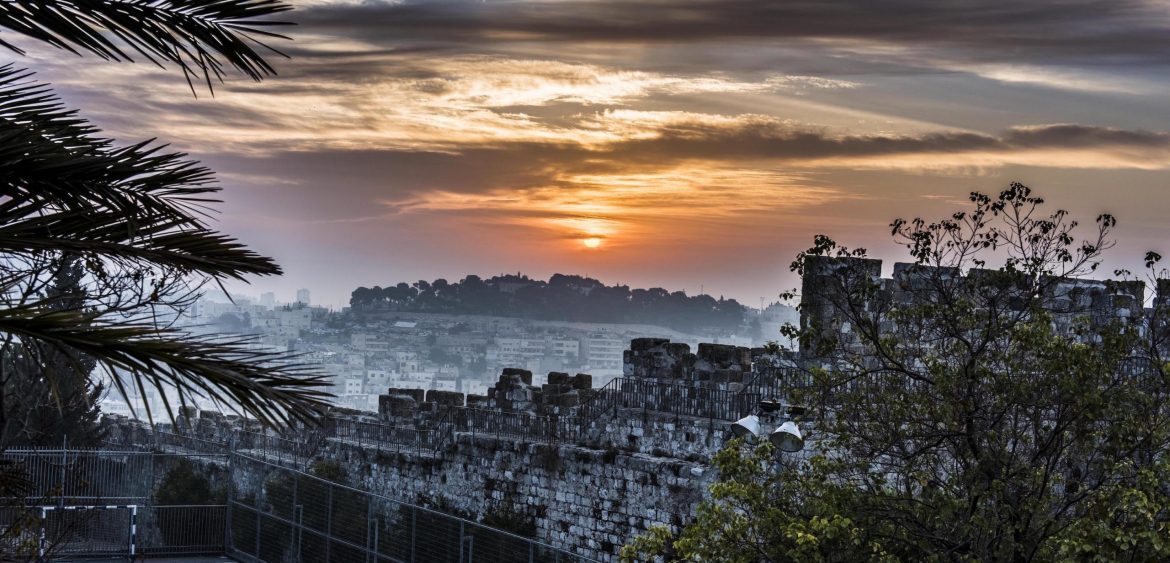 Sunrise over Jerusalem's Old City